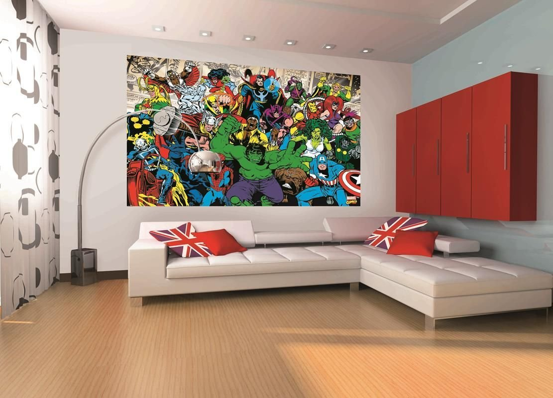 Best Marvel Mural Marvel Home Decor Wallpaper Wallmural With Pictures