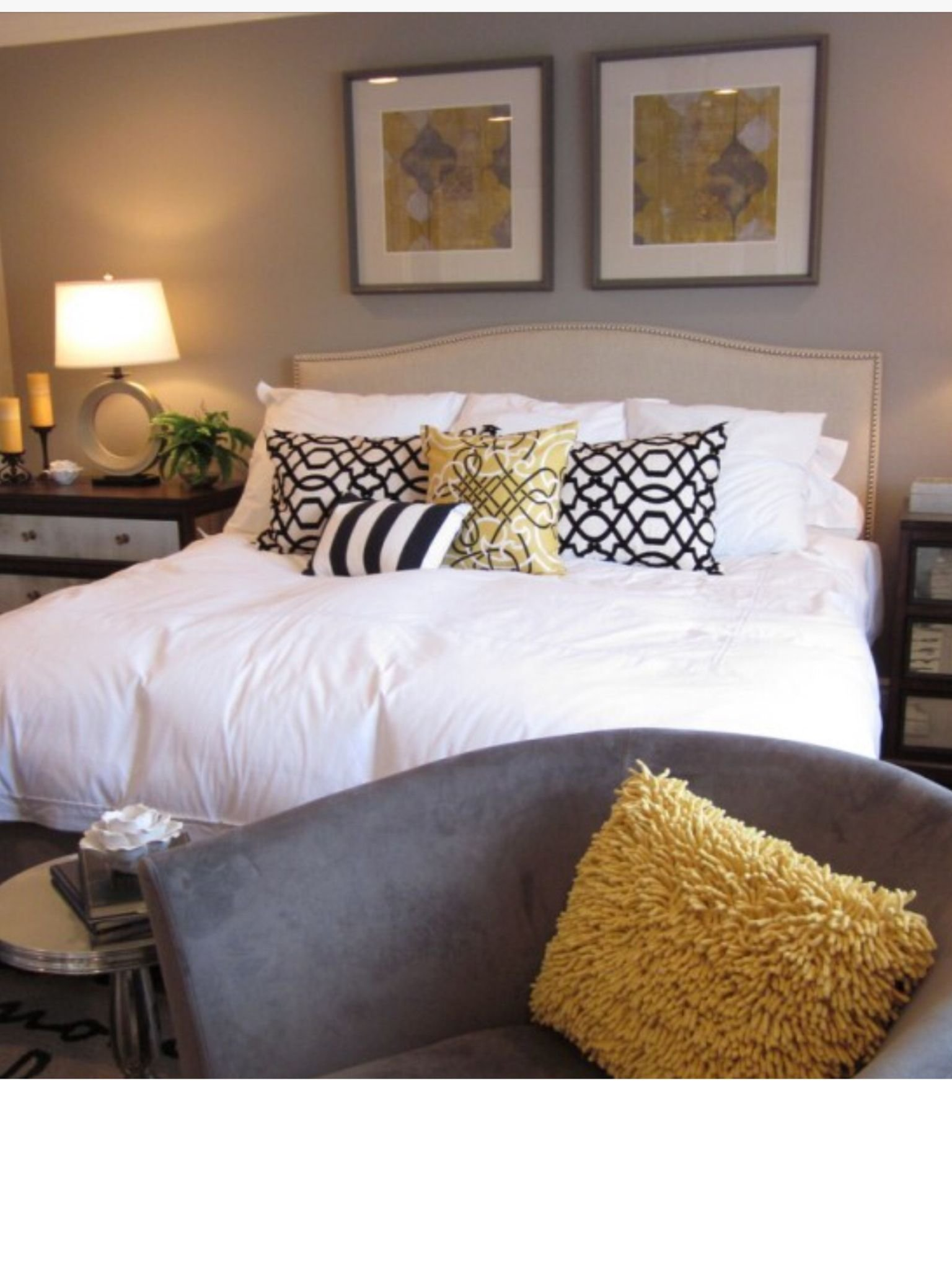 Best Bedroom Colour Scheme Black White Mustard And Beige With Pictures