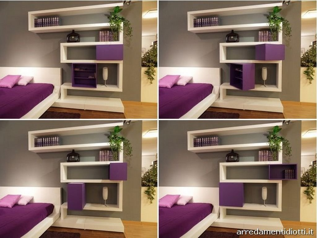 Best Modern Bedroom Wall Mounted Shelving System Interior With Pictures
