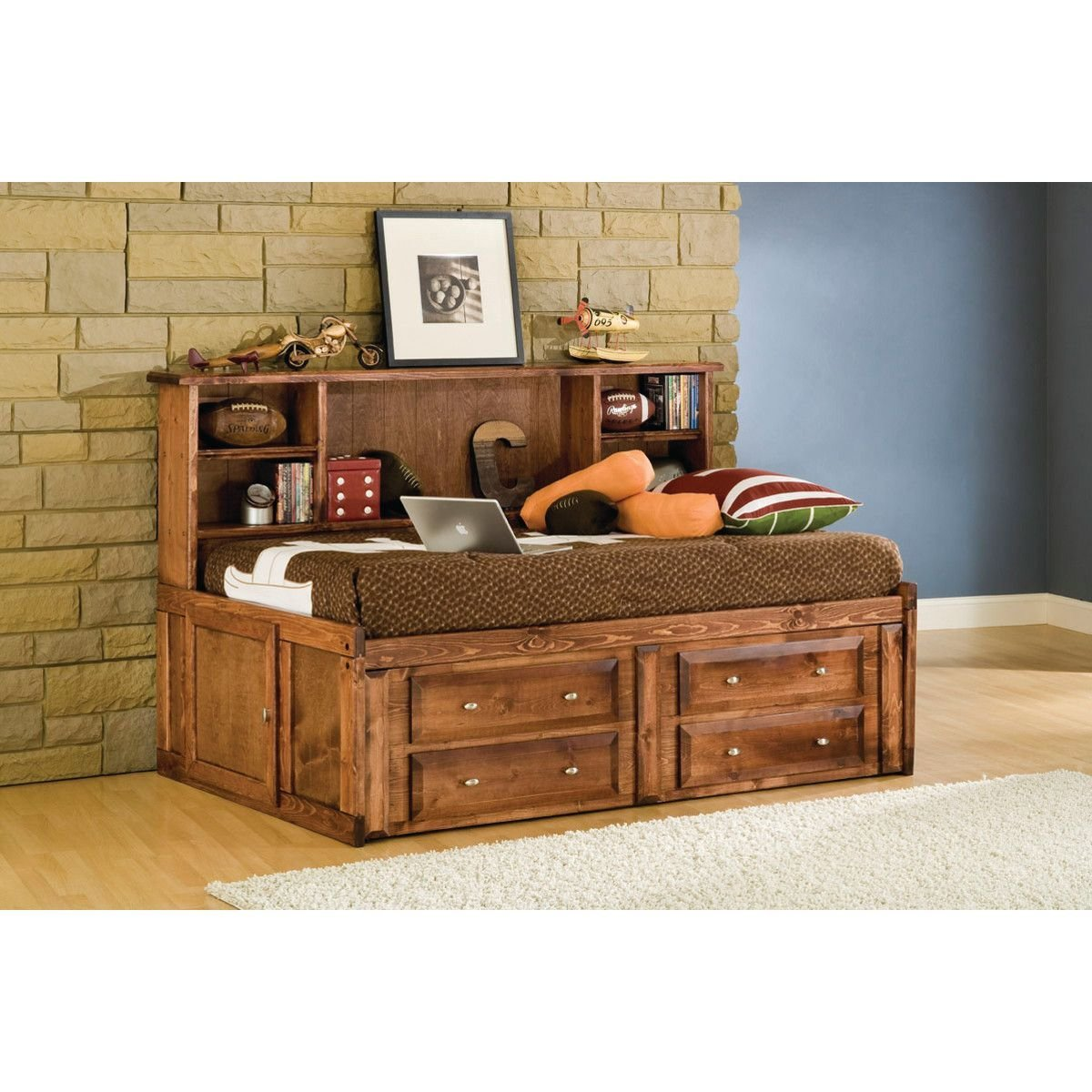 Best Visions Studio Bedroom Bed Underdresser Twin Cocoa With Pictures