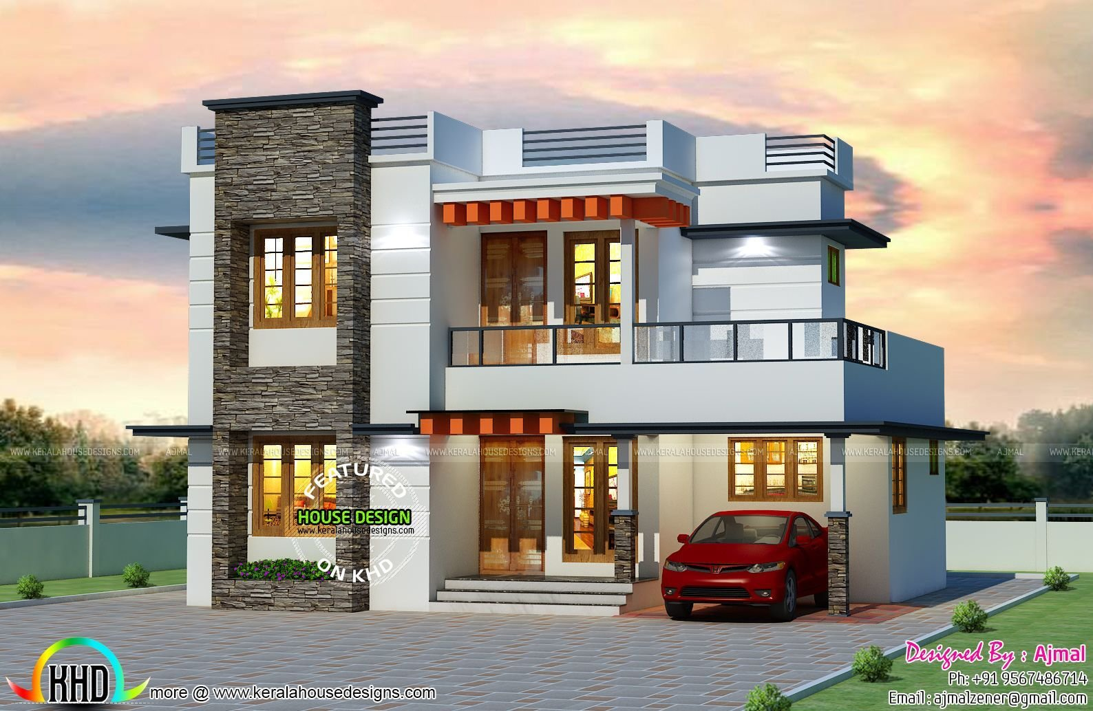 Best 25 Lakhs Cost Estimated Kerala Home Evler Four Bedroom With Pictures