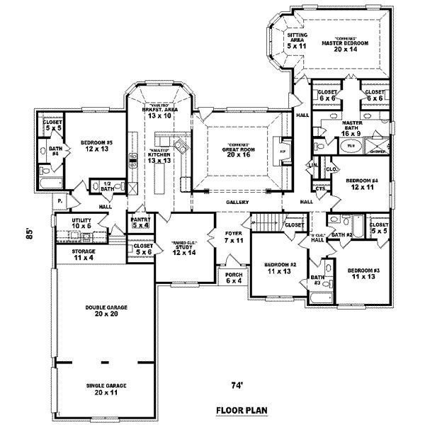 Best Big 5 Bedroom House Plans Feet 5 Bedrooms 4 With Pictures