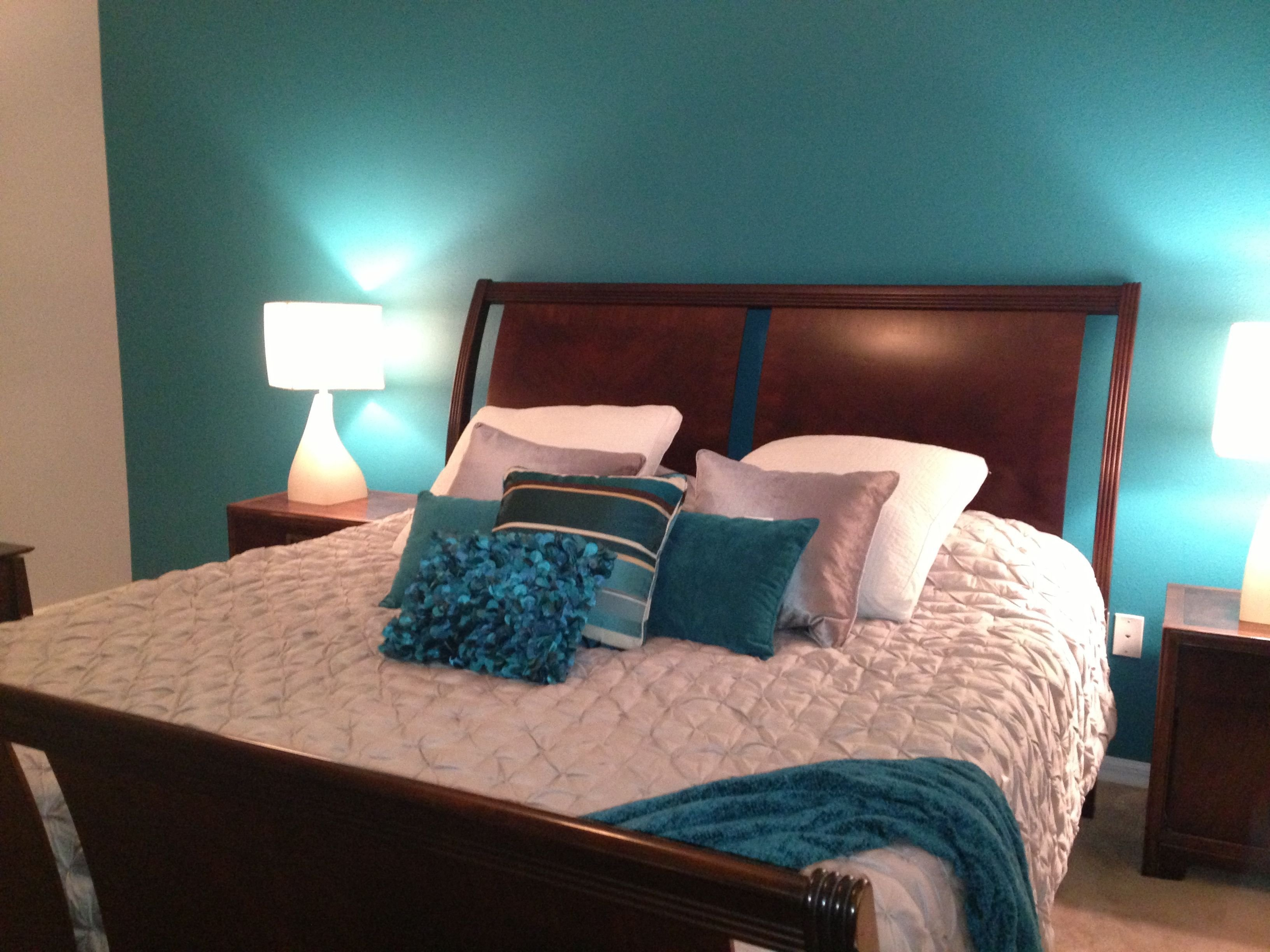 Best My Master Bedroom Teal And Grey My Rooms Teal With Pictures
