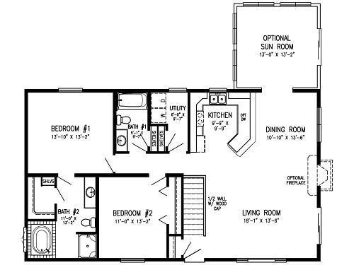 Best 2 Bedroom Modular Floor Plans Concept Main Level Laundry With Pictures
