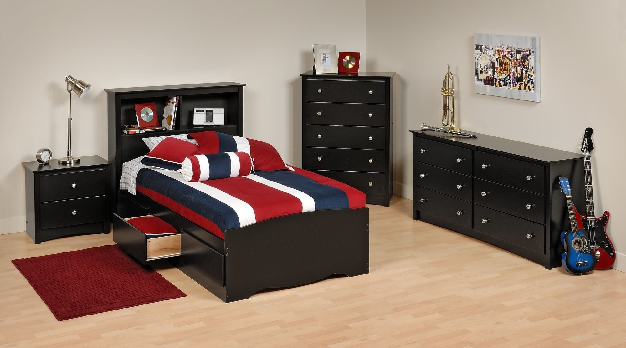 Best Alluring Boys Bedroom Set With Twin Size Bookcase Bed And With Pictures