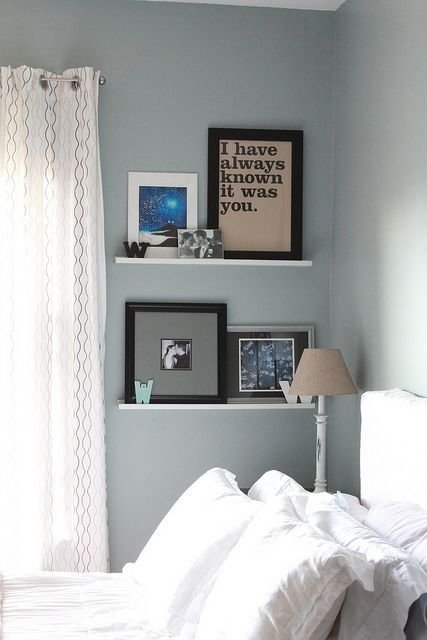 Best Wall Shelves In Bedroom Our Bedroom Blue White With Pictures