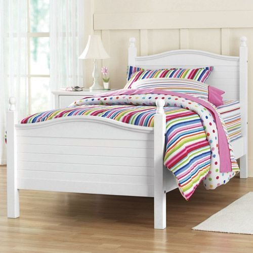 Best Kylie Twin Poster Bed White Walmart Com 150 200 With Pictures