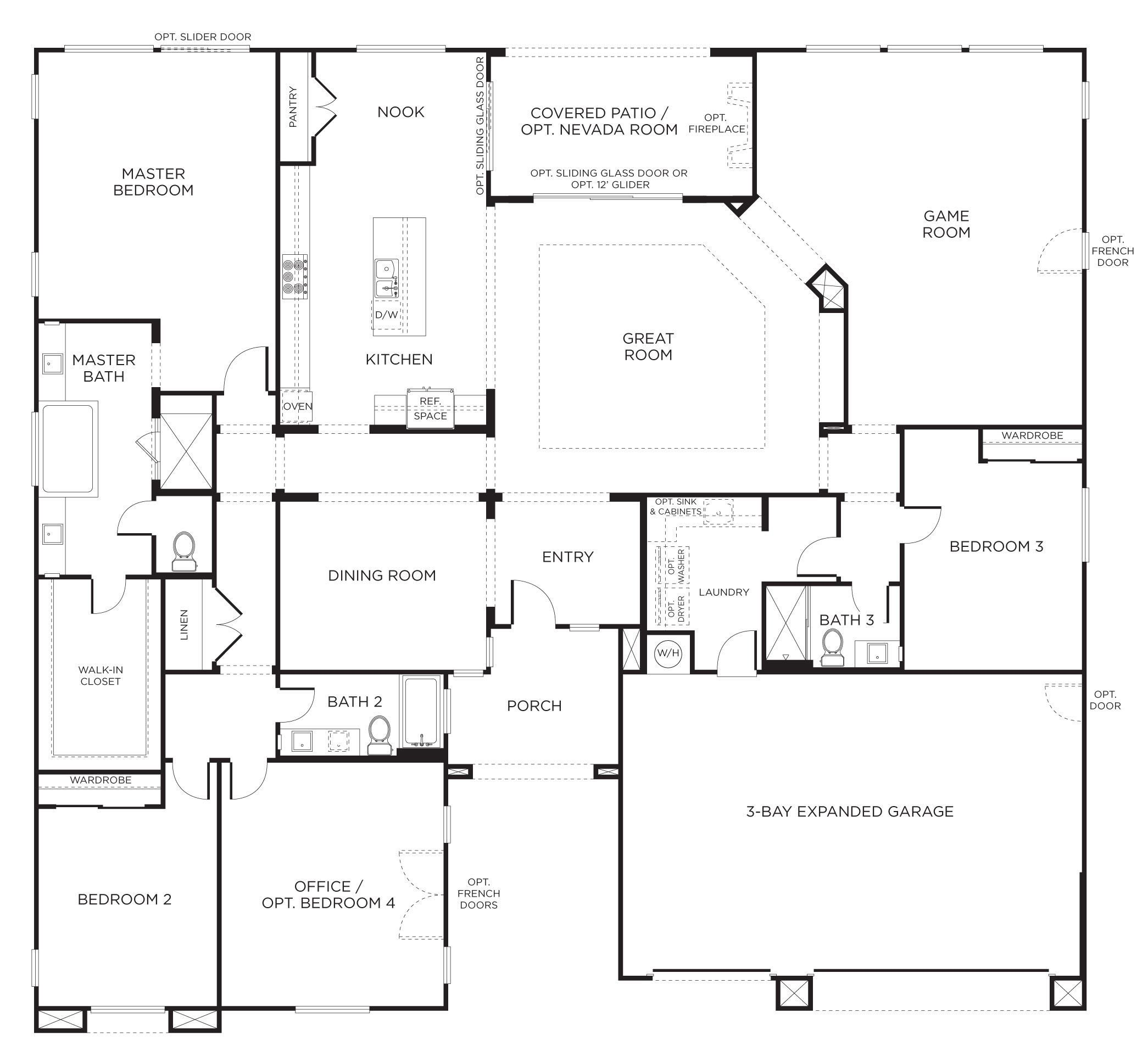 Best Floorplan 2 3 4 Bedrooms 3 Bathrooms 3400 Square Feet With Pictures