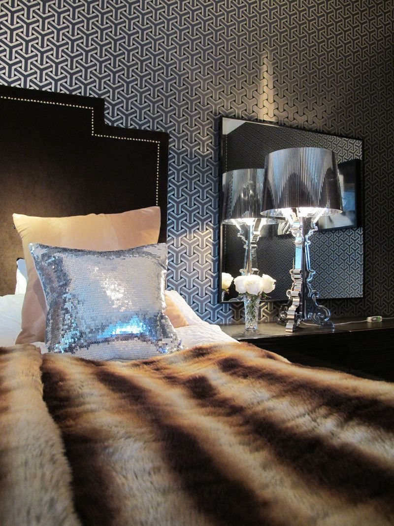 Best Kartell Bourgie Lamp In Silver And Sequin Cushions In With Pictures