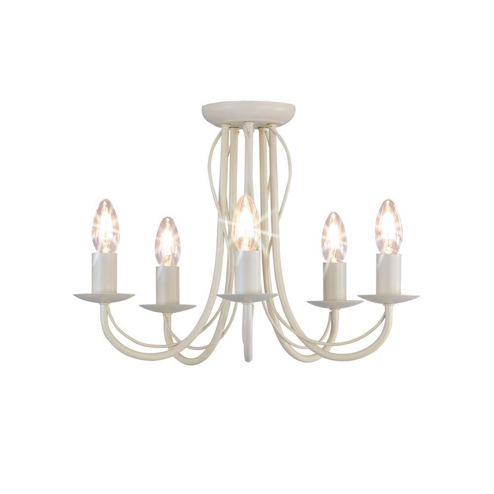 Best Wilko 5 Arm Chandelier Metal Ceiling Light Fitting Cream With Pictures