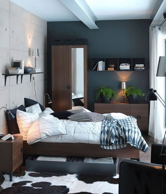 Best Bedroom Design Dark Blue Paint Colors For Small Bedrooms With Pictures
