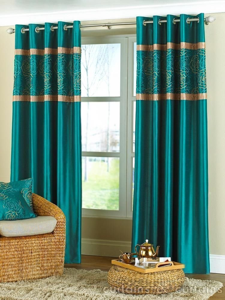 Best Charming Teal Living Room Curtains High Resolution With Pictures