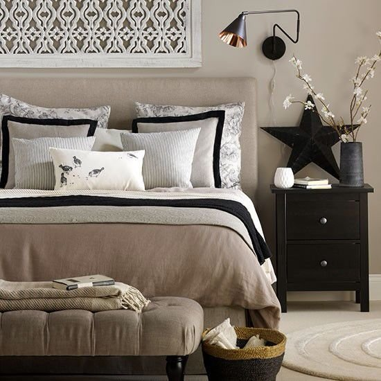 Best Beige And Black Bedroom … Home Decorating Ideas In 2019… With Pictures