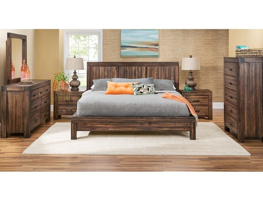 Best Slumberland Prairie Collection Brown 5Pc Queen Room With Pictures