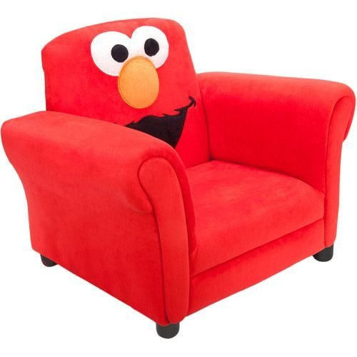Best Sesame Street Elmo Upholstered Chair For Luke With Pictures