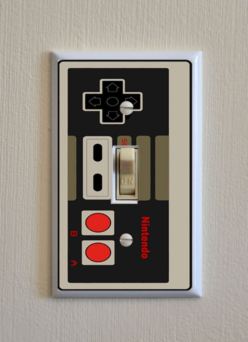 Best Nintendo Controller Switch Plate Wall Plate Cover Video Game G*G Gift Single Outlet Gang With Pictures