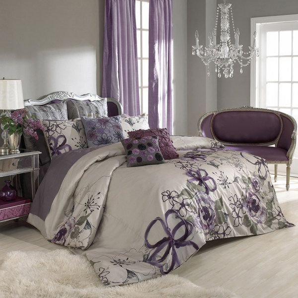 Best Purple And Grey Bedroom By Keeping The Walls A Neutral Grey You Can Add Colour And Pattern In With Pictures