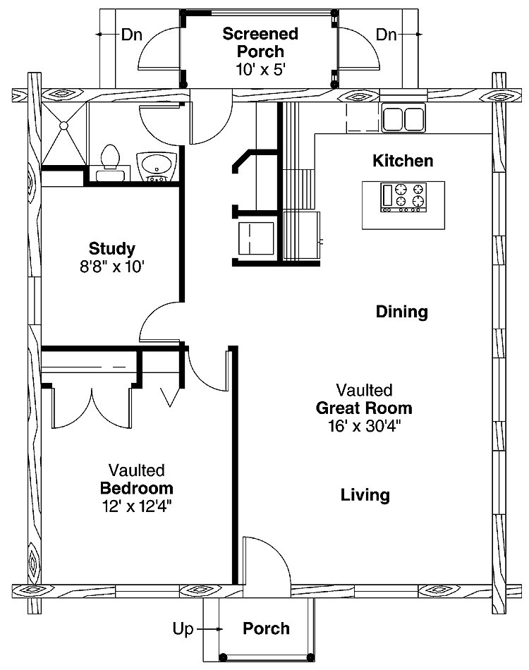 Best Simple One Bedroom House Plans Home Plans Homepw00769 With Pictures Original 1024 x 768