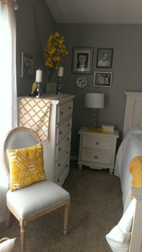 Best Gray And Yellow Bedroom Home Ideas Bedroom Decor Diy Bedroom Decor Yellow Bedroom Furniture With Pictures