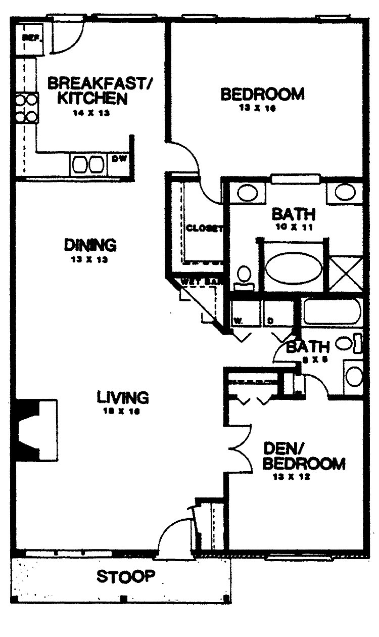 Best Two Bedroom House Plans Home Plans Homepw03155 1 350 Square Feet 2 Bedroom 2 Bathroom With Pictures