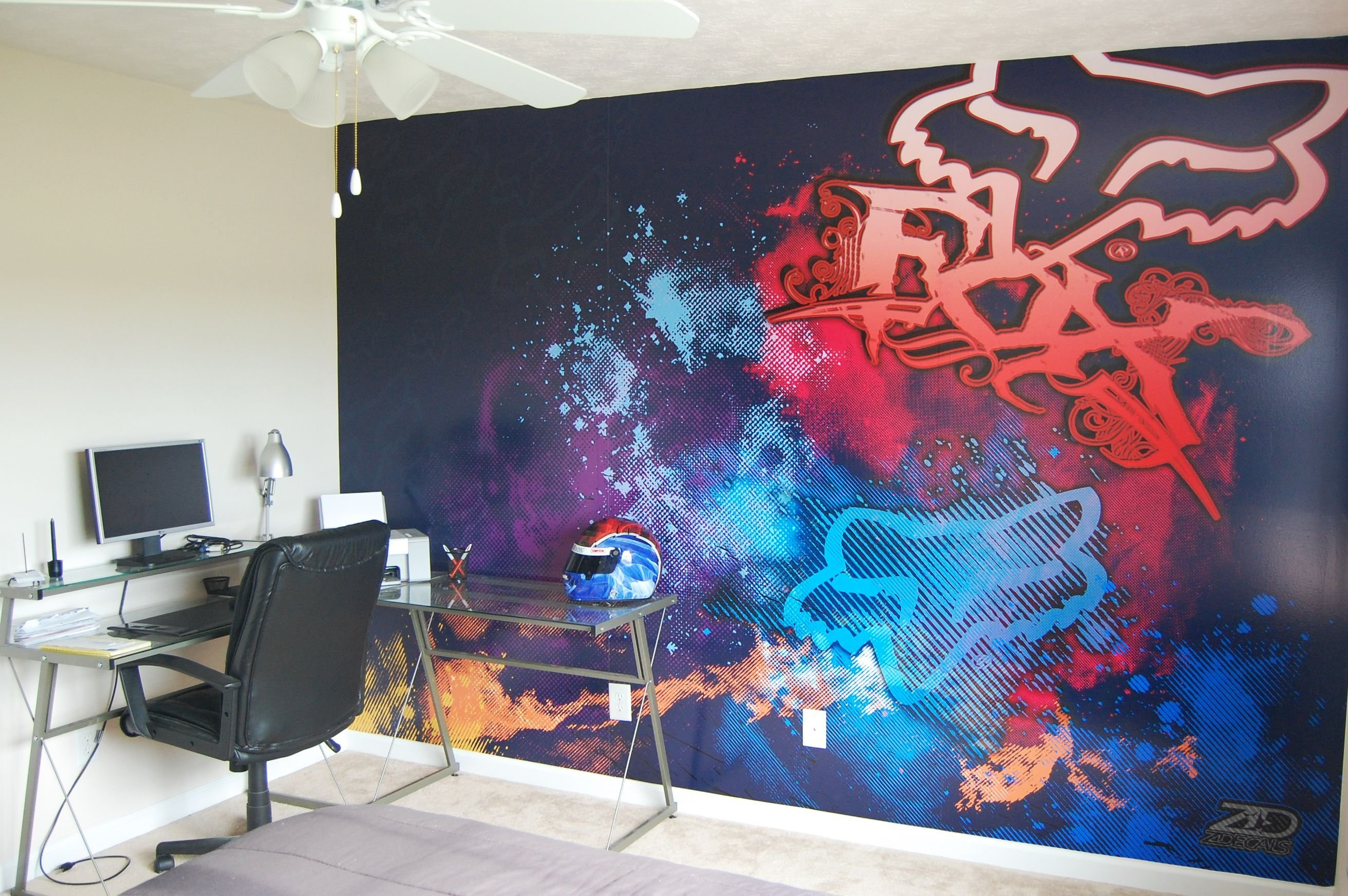 Best Fox Racing Wall Design I Love This Decor Chambres De With Pictures