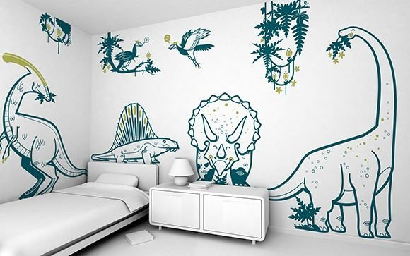 Best Boys Room Dinosaur Wall Stickers Jurassic World With Pictures