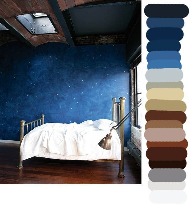 Best Starry Nights In The Brass Bed Arts Color Palettes With Pictures