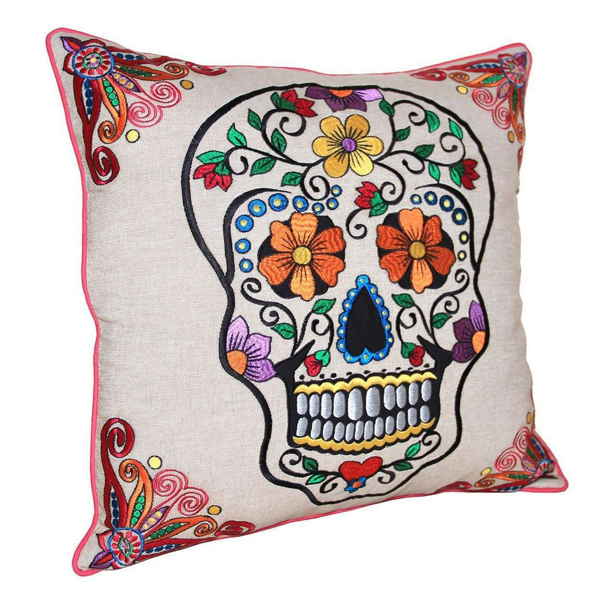 Best Sugar Skull Pillow Natural Inspiration Master Bedroom With Pictures