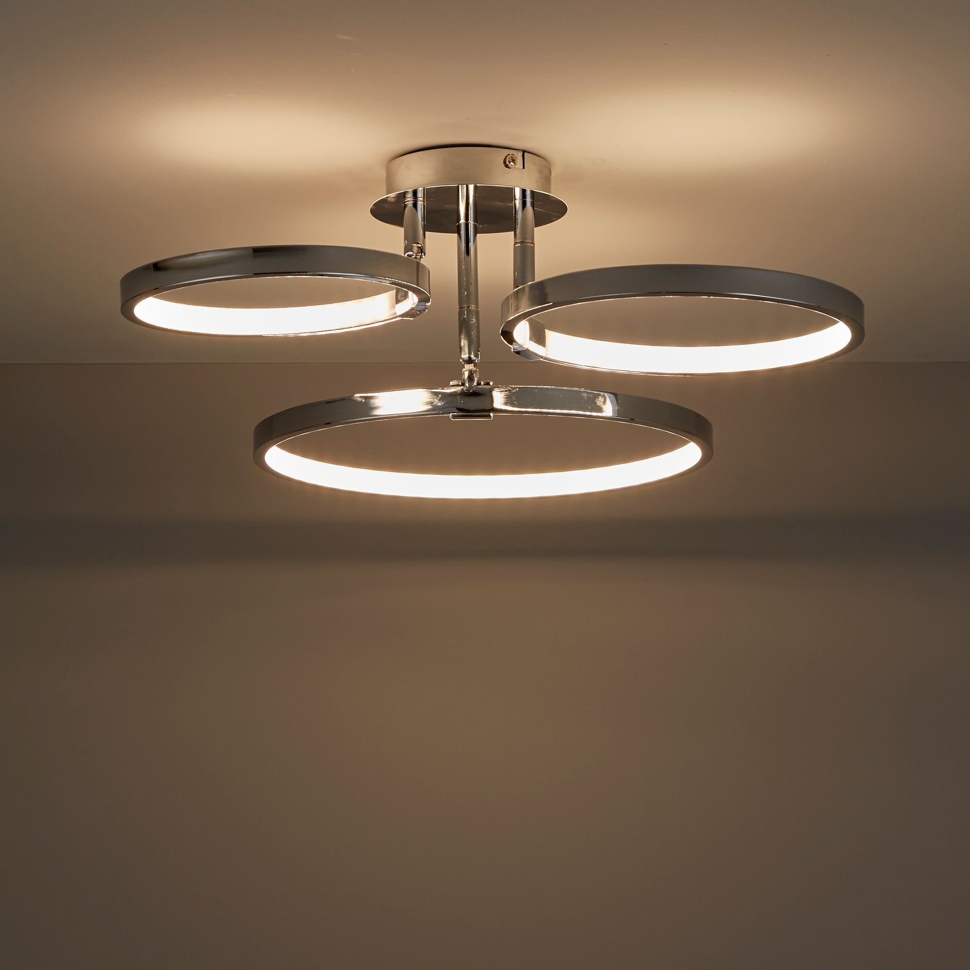 Best Guest Bedroom £58 Annellus Chrome Effect 3 Lamp Ceiling With Pictures