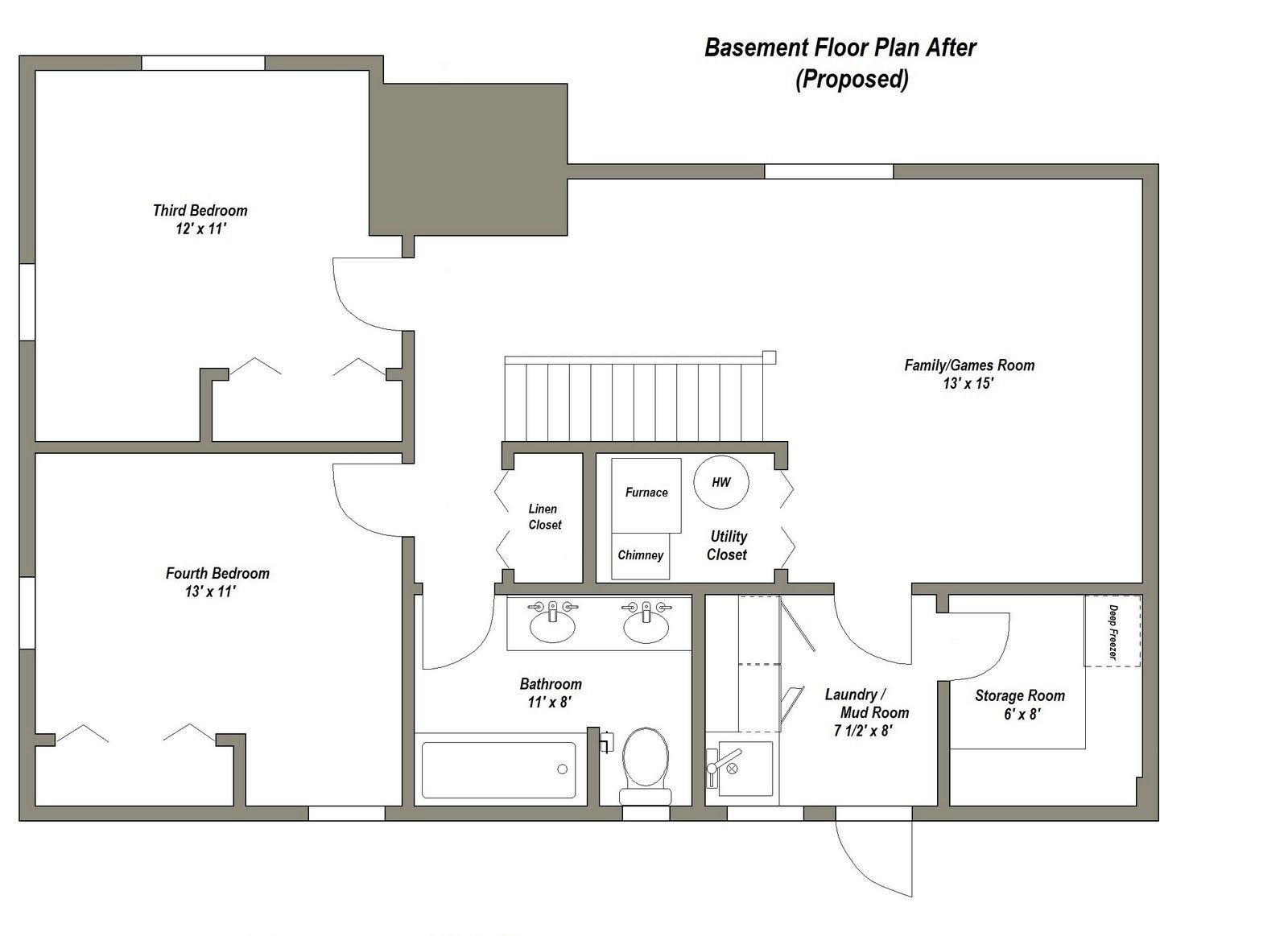 Best Pin By Krystle Rupert On Basement Basement House Plans Basement Floor Plans Basement Apartment With Pictures