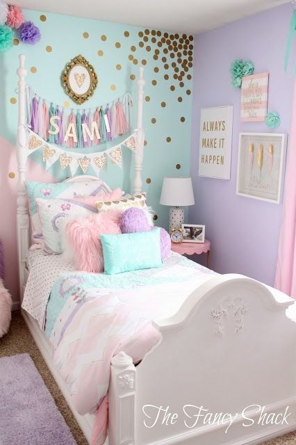 Best The Fancy Shack Pastel Girls Room Makeover Pastel Girls Room Makeover Pastel Girls Room With Pictures