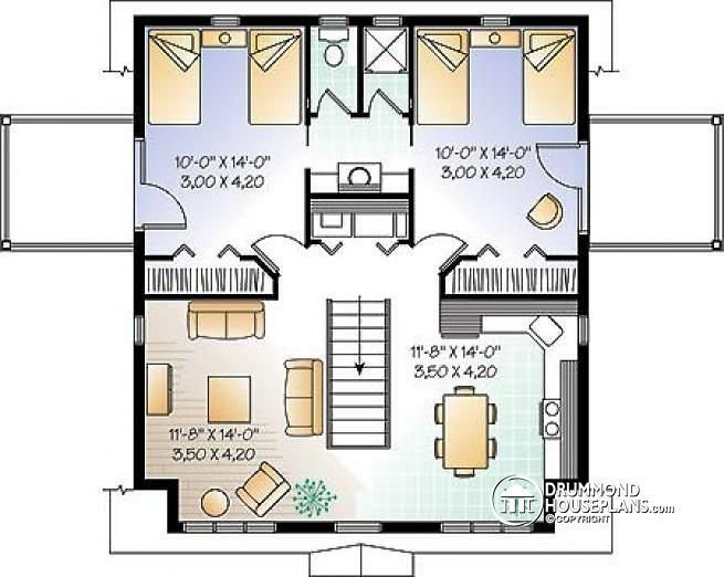 Best 2Nd Level Garage Apartment Plan 2 Bedrooms With Jack And Jill Bath And Private Balconies The With Pictures