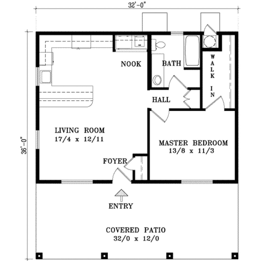 Best Cabin Style House Plan 1 Beds 1 Baths 768 Sq Ft Plan 1 With Pictures
