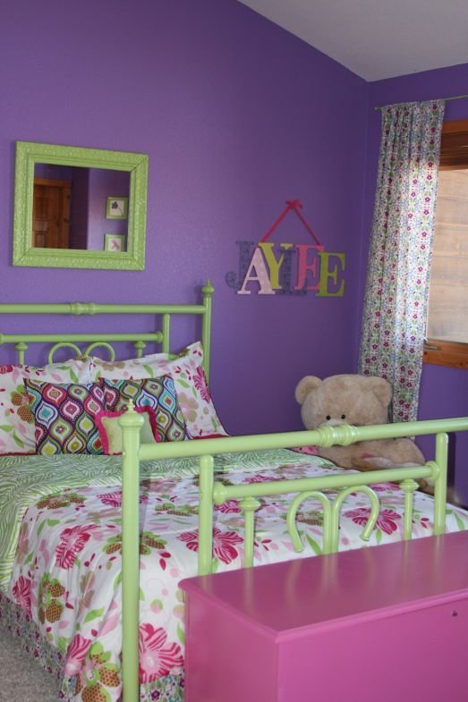 Best Purple Green And Pink The Blog Green Girls Rooms Bedroom Green Purple Bedroom Design With Pictures
