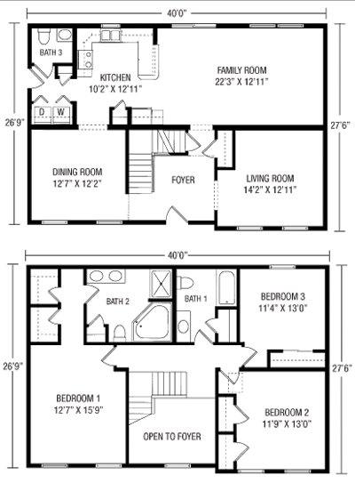 Best Unique Simple 2 Story House Plans 6 Simple 2 Story Floor With Pictures