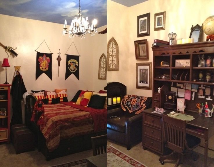 Best Harry Potter Rooms Harry Potter Bedroom Draco Dormiens With Pictures