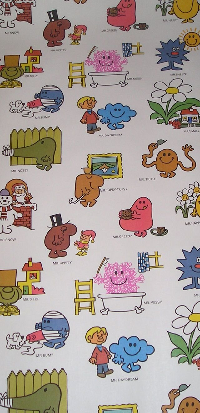 Best I Metre Of Vintage Mr Men Wallpaper By Jnamas On Etsy 14 With Pictures