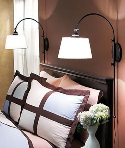 Best Wall Mounted Bedroom Lamp Reading Classic Vintage Hanging With Pictures