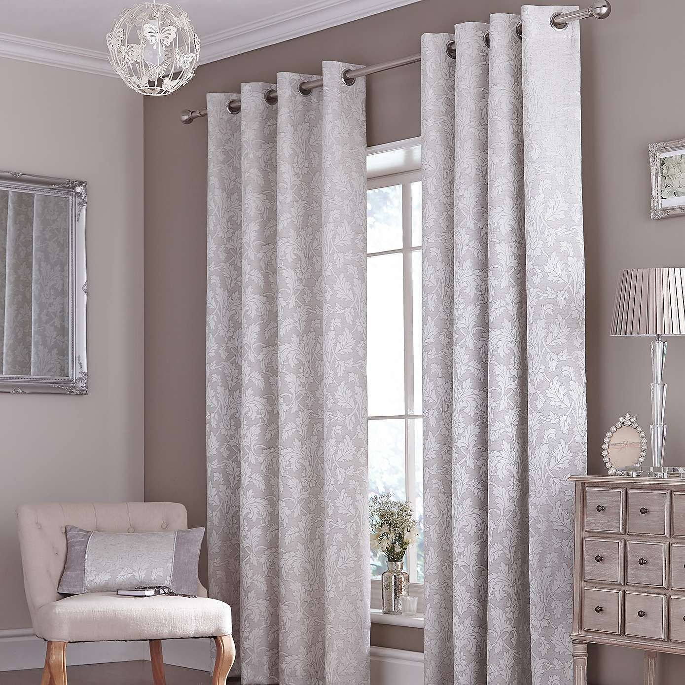 Best Silver Canterbury Curtain Collection Dunelm Aliaa With Pictures