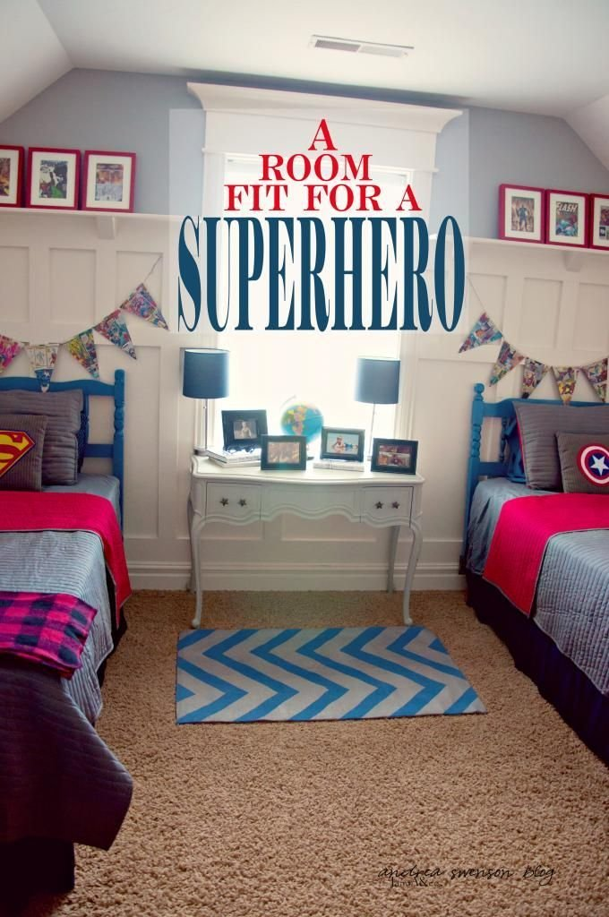 Best Boys Superhero Bedroom Love The Banner But Maybe Add The With Pictures