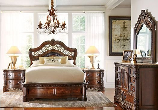 Best Handly Manor Pecan 7 Pc King Panel Bedroom My Favorite With Pictures