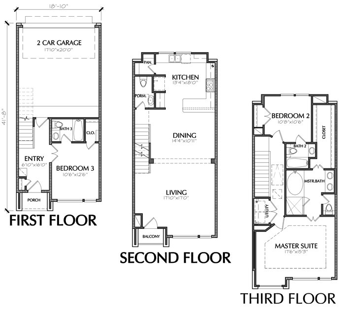 Best 3 Story Townhouse Floor Plan For Sale In Houston With Pictures