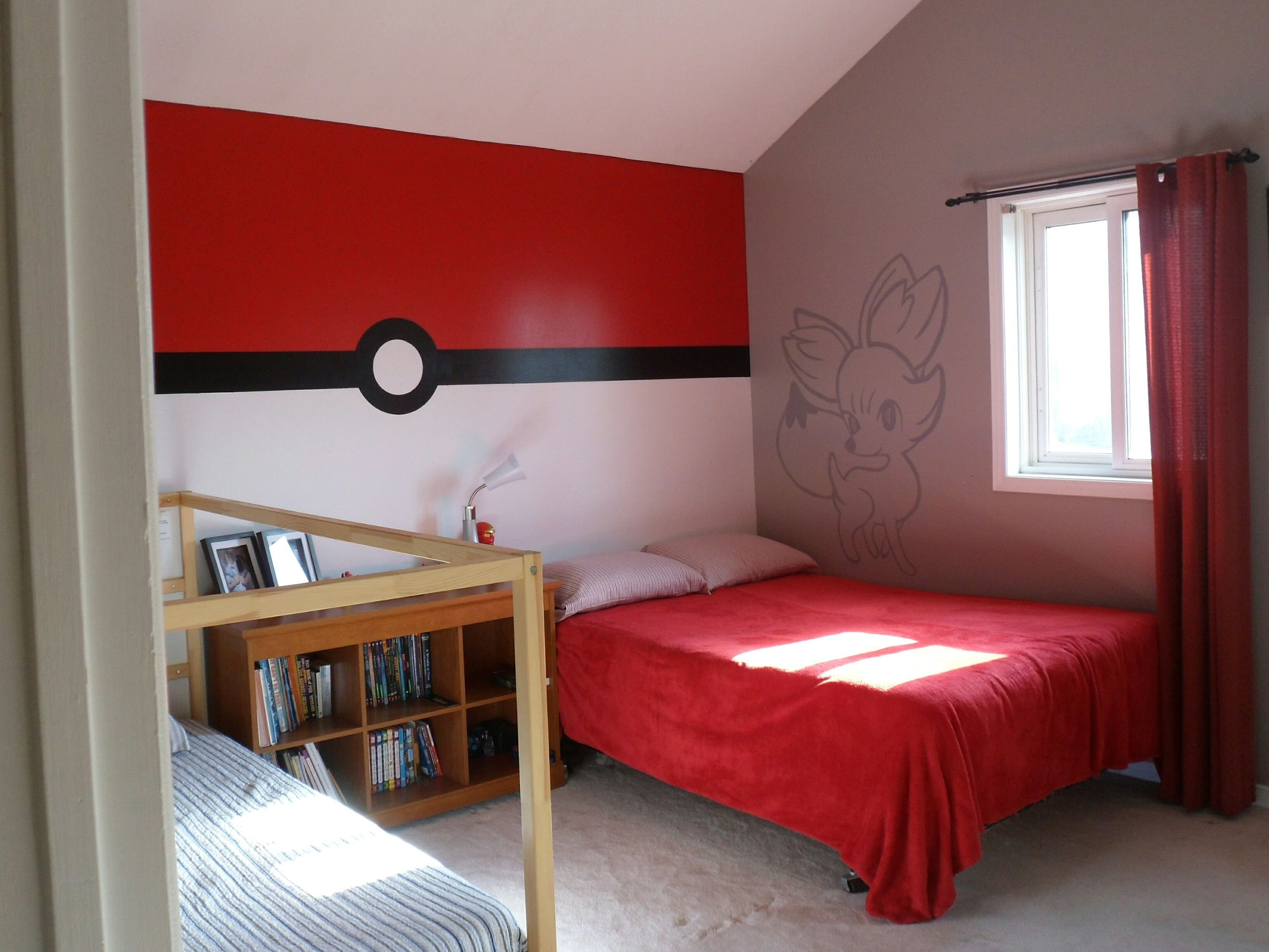 Best Pokemon Bedroom Pokeball Wall Game Rooms Budget Bedroom Room Pokemon Room With Pictures