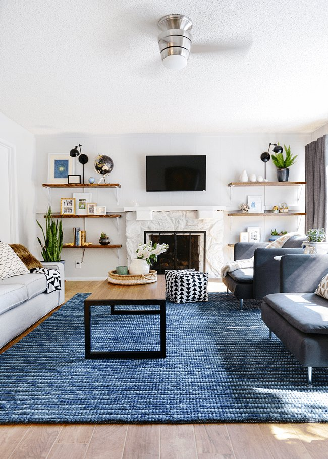 Best Lowe's Spring Makeover Reveal Bold Style Living Room With Pictures