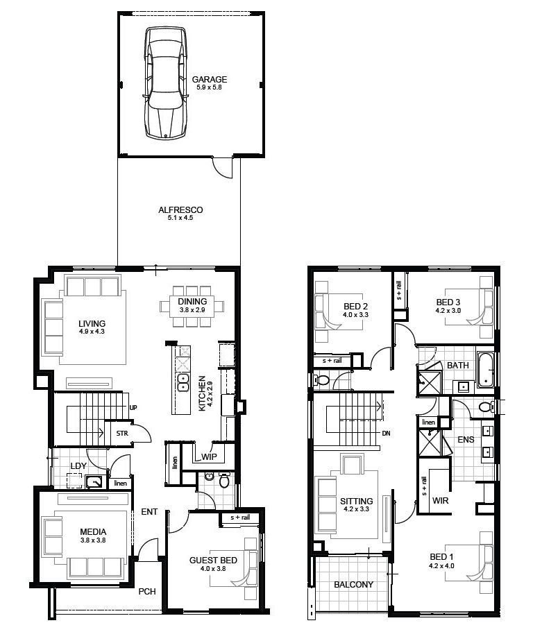 Best 3 Bedroom House Designs Perth Double Storey Apg Homes Homes And Home Plans In 2019 House With Pictures