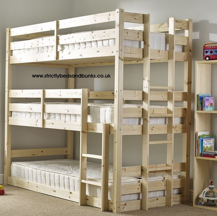 Best 7 Nice Triple Bunk Beds Ideas For Your Children's Bedroom With Pictures