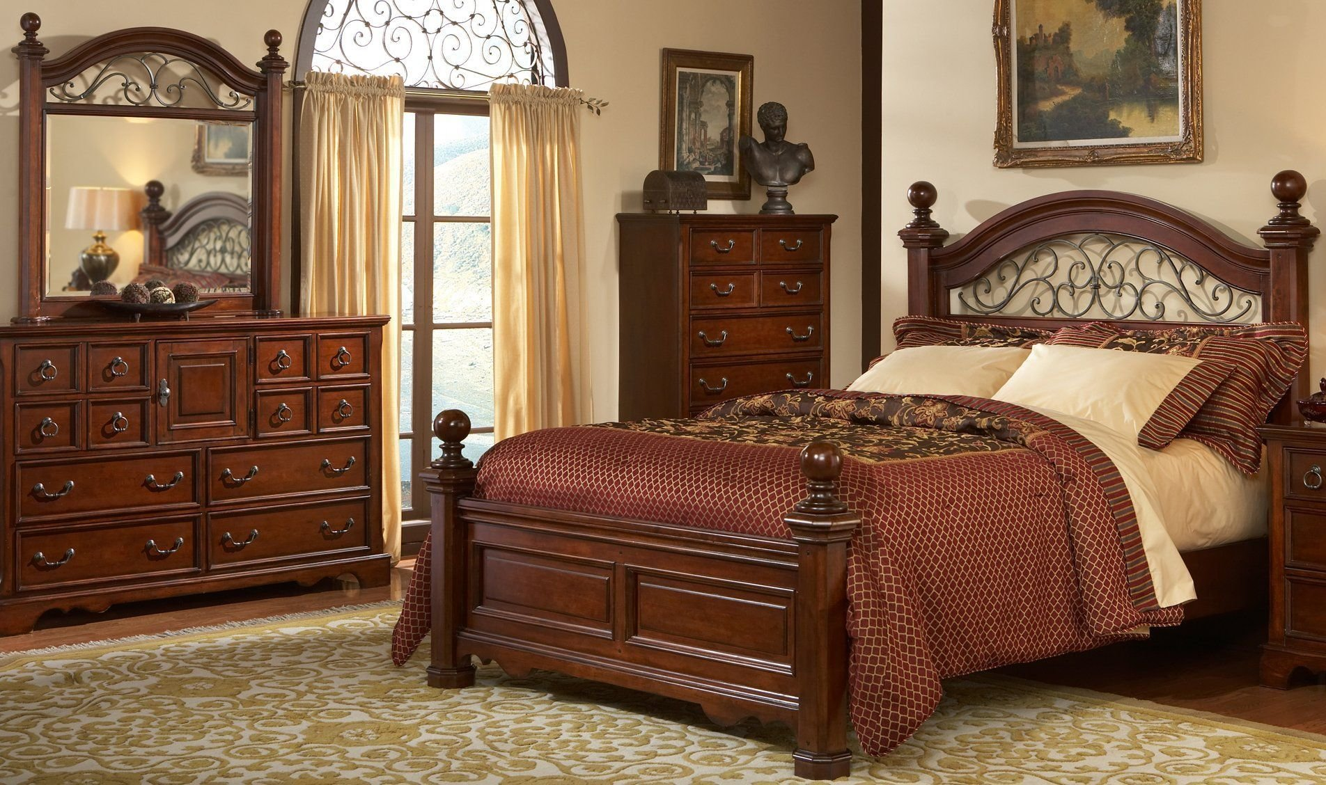 Best Wrought Iron And Wood Bedroom Sets Bedroom Set With With Pictures