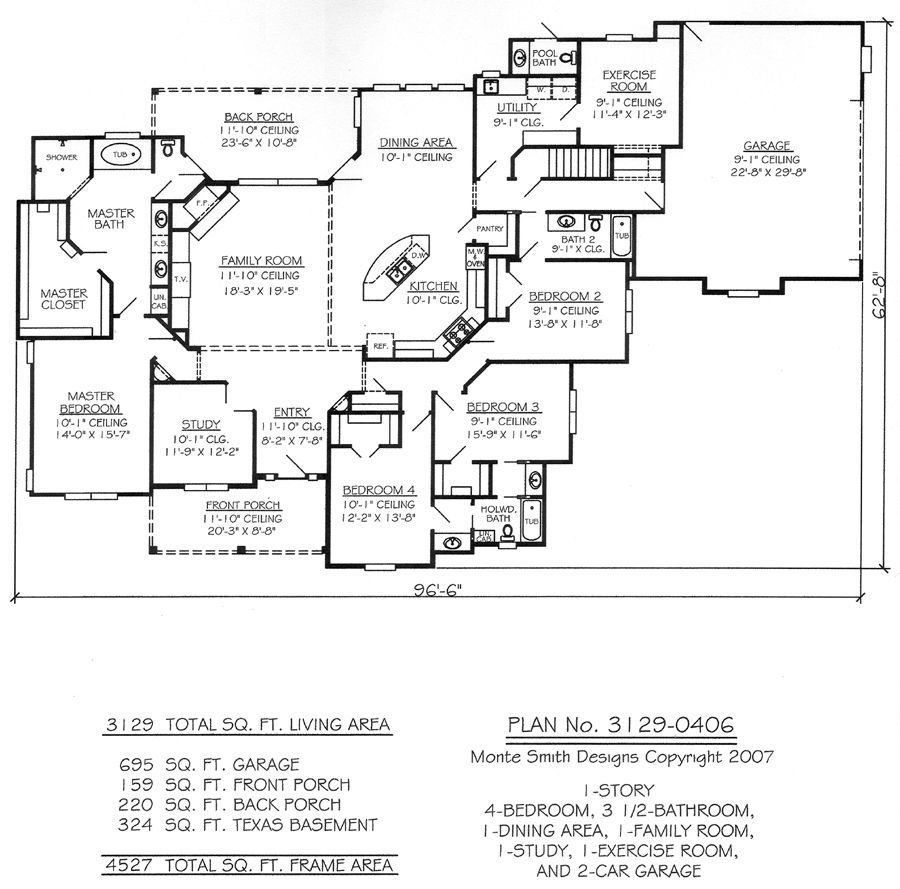 Best One Story Four Bedroom House Plans Story 4 Bedroom 3 5 With Pictures
