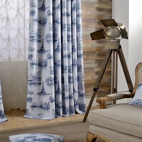Best ᐅEuropean Style Eiffel Tower Printed Shade Curtains With Pictures