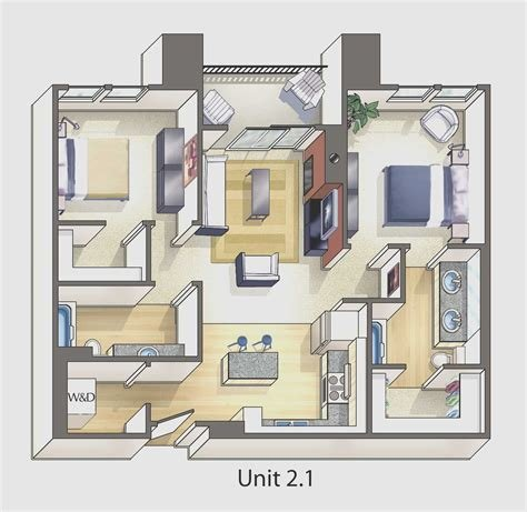 Best 1 Bedroom Apartment Design Plans New Apartment 1 Bedroom With Pictures